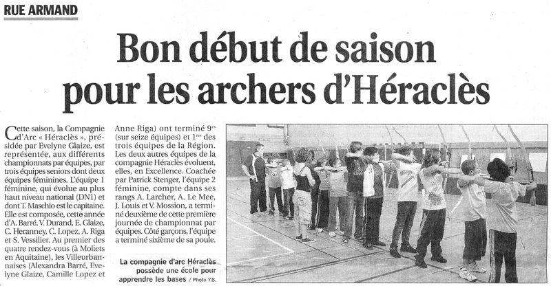 27-05-2010 Le Progres - Debut saison exterieure
