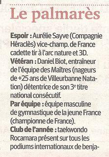 04-12-2011 Le Progrés - Lauriers de Villeurbanne