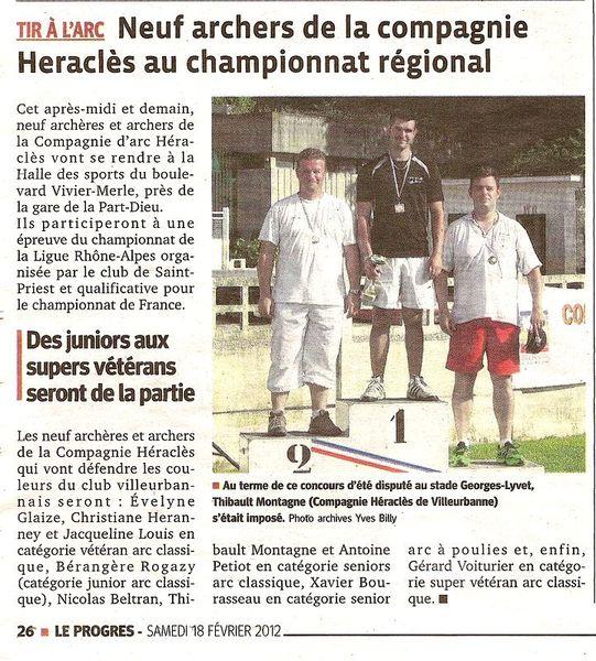 18-02-2012 Le Progres - Championnat de ligue