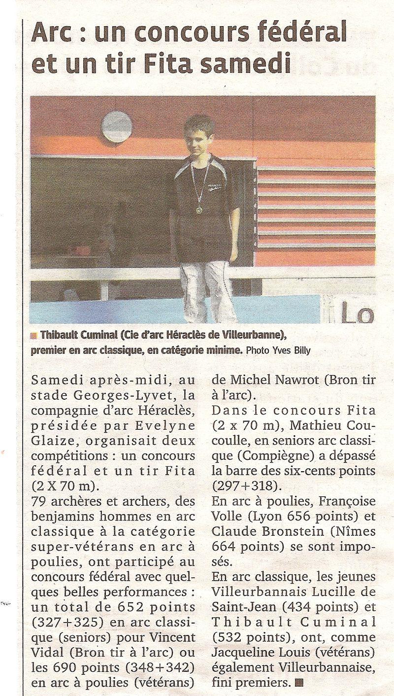 26-06-2012 Le Progres - Concours Federal et FITA