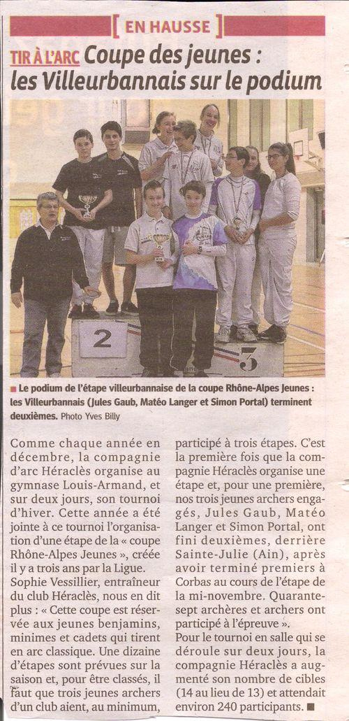 08-12-2014 Le Progres - Coupe Rhone alpes jeunes