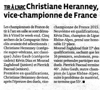 26-02-2015 Le Progres - Championnat de france